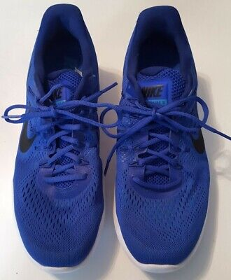 outlet store 47e49 3b998 NIKE MENS LUNARGLIDE 8 RUNNING SHOES  AA8676 400  Size 11.5 Racer Blue    Black