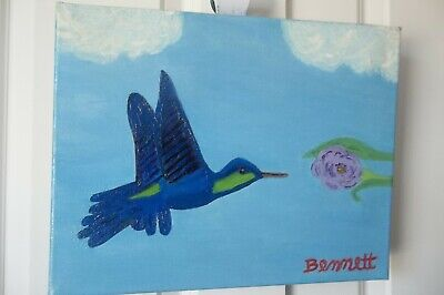 Hummingbird, Original, Wall Art Oil Painting,Fine Art,Handmade Gift,By Bennett