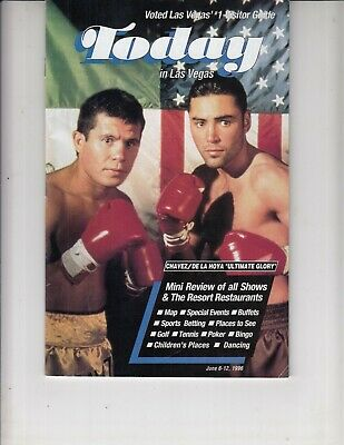 Today In Las Vegas June 1996 Visitors Guide Magazine Boxing girls Kenny Rodgers