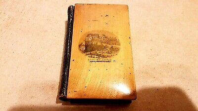 Antique Mauchline Ware New Testamant, Stirling Castle & Wallace Monument.