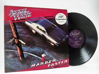 APRIL WINE harder faster (1st uk press) LP EX+/VG+ E-ST-12013, vinyl, with inner