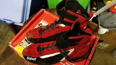Sabelt Street High racing Boots, Red - Size 42 only used once