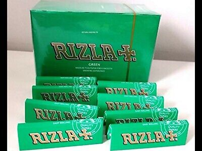 Rizla Green Rolling Papers U.K Genuine product. pack of 10