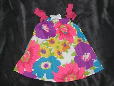 040dee535 Tcp The Children's Childrens Place Bright Floral Dress Baby Girl 3-6 Easter  New