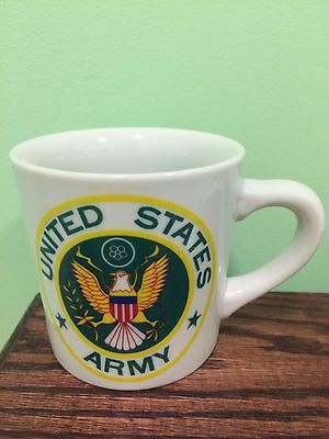 US Army Mug Coffee Cup Soldier Army Seal  Flag Made In Japan