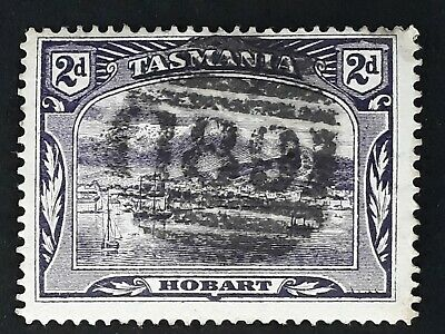 Rare Undated Tasmania Australia 2d Purple Pict Stamp - CDS 189 - Beaconsfield