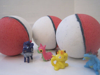 Pokemon Bath Bombs  for Kids with Surprise Toy Inside - Lush Shea Butter 12count