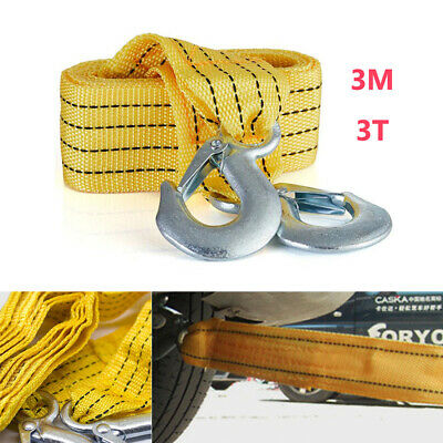 3M 3T tons tonne Tow Towing Pull Rope Strap Heavy Duty Road Recovery Car Van