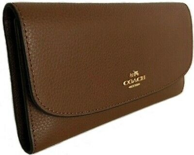 0bf2f212d19e 100% Authentic Coach Women s Signature Leather Checkbook Wallet F16613 60%  Off