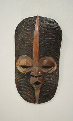 African Mask Malawian Wood Hand Carved Mask