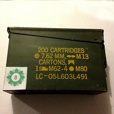 Genuine US Military Ammo Can 30 Cal Size Steel Sealed Locking Latch Box VG