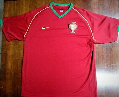 65c40e5d8d4 NIKE Men's LARGE FPF Portugal Soccer Jersey Red Green Futbol - Sphere Dry
