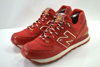 "sneakers for cheap 13515 6ad7b NEW BALANCE CLASSICS 574 ""Year of the Snake"" Mens Red Glow In Dark US Sz 7.5"