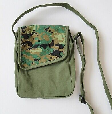 Shoulder Bag Canvas Army Pixel Camo Travel camping boys kids camouflage military