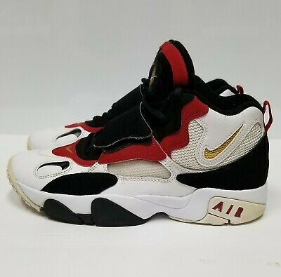NIKE AIR MAX Speed Turf, Boy's, Red Black & White, High Top