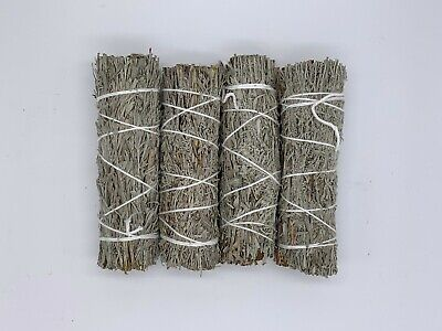"4 Blue Sage Smudge Sticks / Wands 4 - 5 "" Negativity Removal"