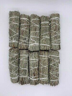 "10 Blue Sage Smudge Sticks / Wands 4 - 5 "" Negativity Removal"