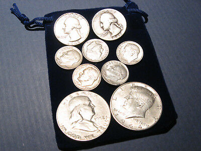 $2 FV $2.00 Face Value US Junk 90% Silver Coins w/ Pouch ~ Novel Gift Idea