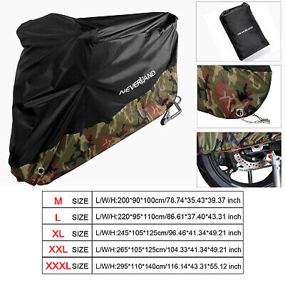 M-XXXL Camouflage Waterproof Motorcycle Motor Bike Cover Scooter Rain Protection
