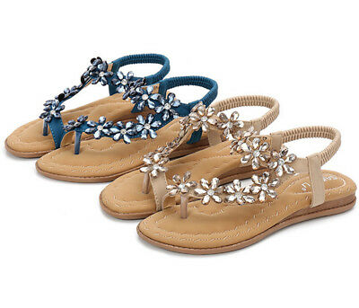 Ladies Womens Flat Low Wedge  Summer Beach Fashion Sandals Holiday Shoes Sz 3-9