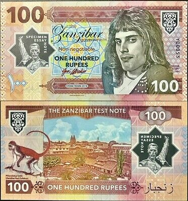 Zanzibar 100 Rupees 2018 Tanzania Privated Issued Clear Polymer Freddie Mercury