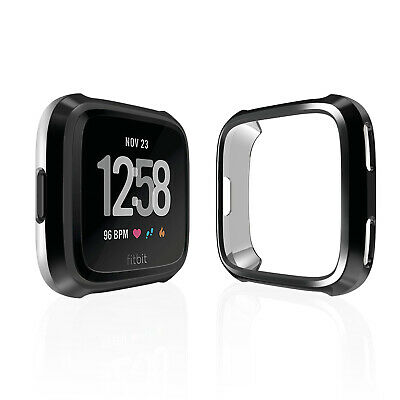 For Fitbit Versa TPU Ultra Thin Full Protective Screen Protector Case Cover