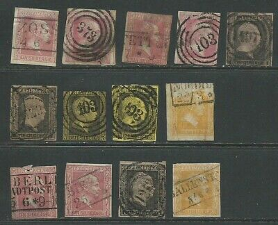 Prussia 1850 collection imperf mostly  good used (1202)