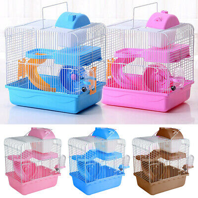 2 Tiers Gorgeous Hamster Mouse Cage Storey Fantasia Hamster Cage Castle NEW
