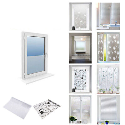 Bedroom Bathroom Home Glass Window Door Privacy Film Static PVC Frosted