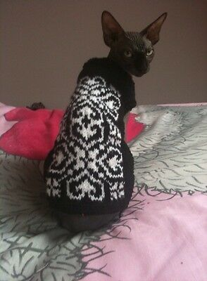 Personalised Sphynx Peterbald Cornish Rex Devon Rex Cat Jumper Made 2 measure