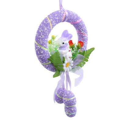 Easter Eggs Wreaths Household Hanging Decorations Party Styrofoams Ornaments 6A