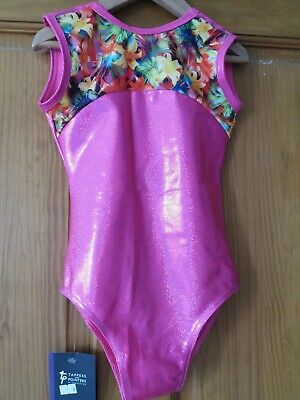 Sale Tappers &Pointers Sleeveless Girls Gymnastics Leotard Gym Leo 9-10 Y (2)