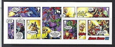 Great Britain 2019 Marvel Miniature Sheet With0Ut Barcode Unmounted Mint, Mnh