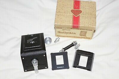 Rolleikin Adapter to use 35mm Film on Rolleicords   Boxed, Early Type