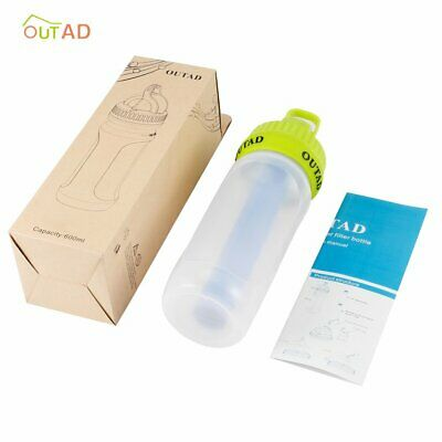 OUTAD Portable Water Bottle 1500 Liter Filter Purification for Outdoor Tour  D
