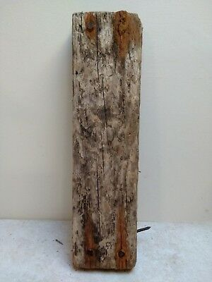 Driftwood Block With Nails