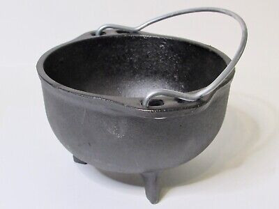 "Lodge 5"" Cast Iron 3 Footed Mini Dutch Oven Pot Only No Lid USA"