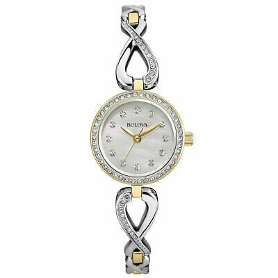 Bulova Women's Quartz Stainless Steel Casual Watch, Color:Two Tone (Model: 98X10
