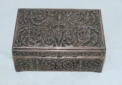 Antique Sterling Silver Siam Cigar Box Elaborate 17.28 ounces