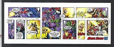 Great Britain 2019 Marvel Miniature Sheet Without Barcode Fine Used