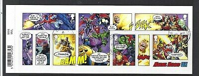 Great Britain 2019 Marvel Miniature Sheet With  Barcode Fine Used