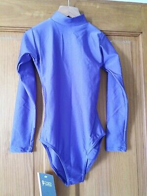 SALE TAPPERS & POINTERS SLEEVEd GIRLS DANCING LEOTARD GYM LEO 9-10 Y (2)