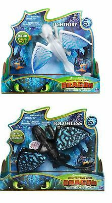 How To Train Your Dragon The Hidden World Deluxe Toothless, Lightfury Figure