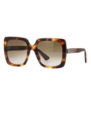 92bbba6150 New Authentic Gucci GG0418S 003 Havana with Brown Gradient Sunglasses GG  0418S