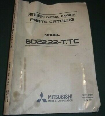 MITSUBISHI 6D22 22-T TC ENGINE Parts Manual Book Catalog