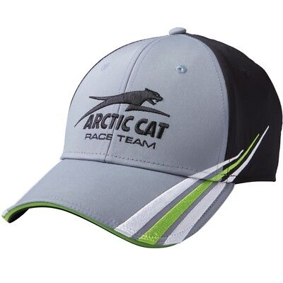 Arctic Cat Team Pride Hook-and-loop Closure Embroidered Cap Gray Black 5293-726