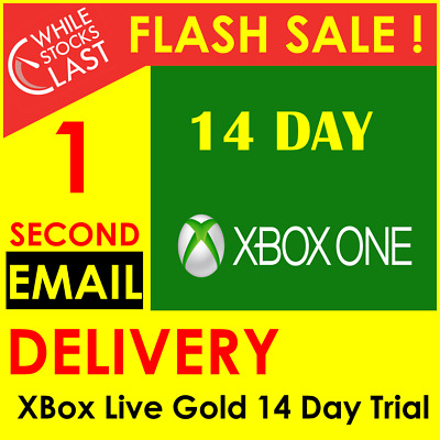 INSTANT Email Delivery- Xbox Live Gold 14 Days 2 Weeks Trial Key WORLDWIDE