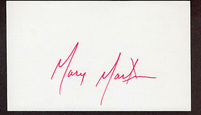 Mary Martin Signed Autographed Index Card - The Melchior Collection
