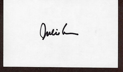 Julie London Signed Autographed Index Card - The Melchior Collection
