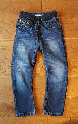 NEXT Boys Blue Faded Distressed Denim Jeans Trousers Stretch Waist 6 Years